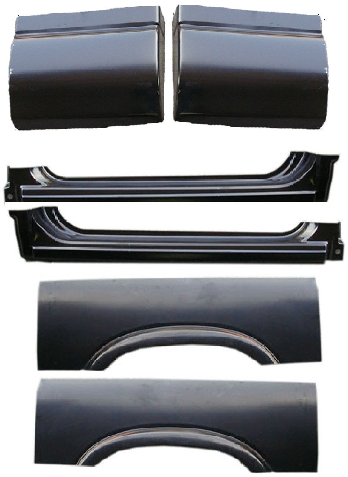 94-04 Chevy S10 6Pc Extended Rocker & Arch Kit