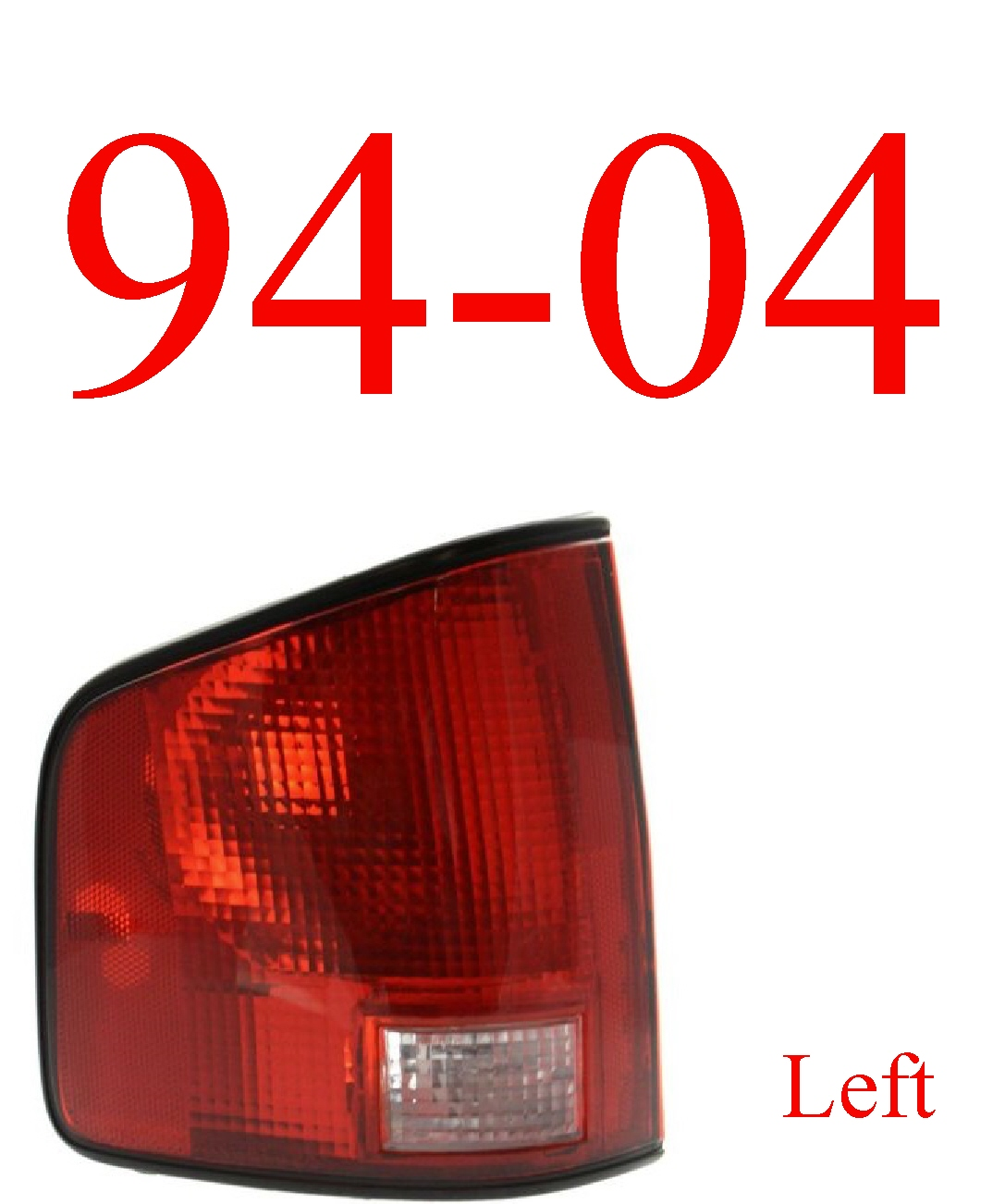 94-04 S10 Left Tail Light Assembly