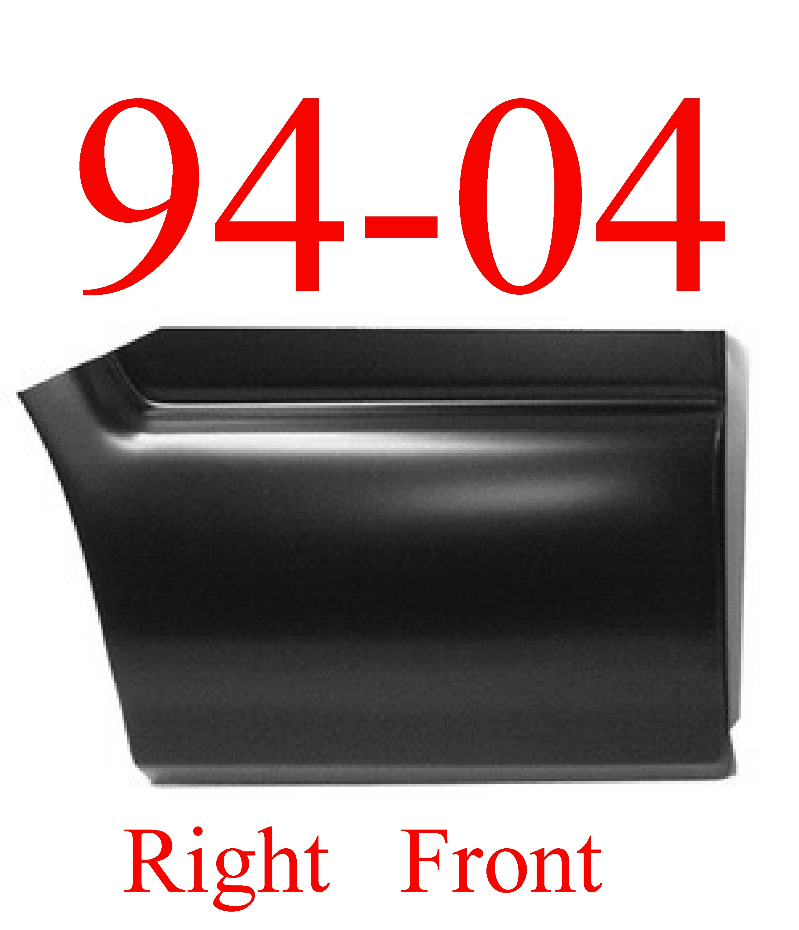 94-04 S10 RIGHT Front Lower Bed Patch