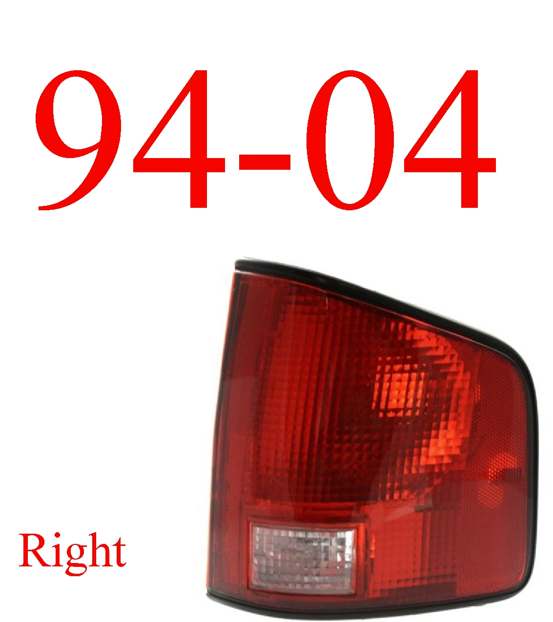 94-04 S10 Right Tail Light Assembly