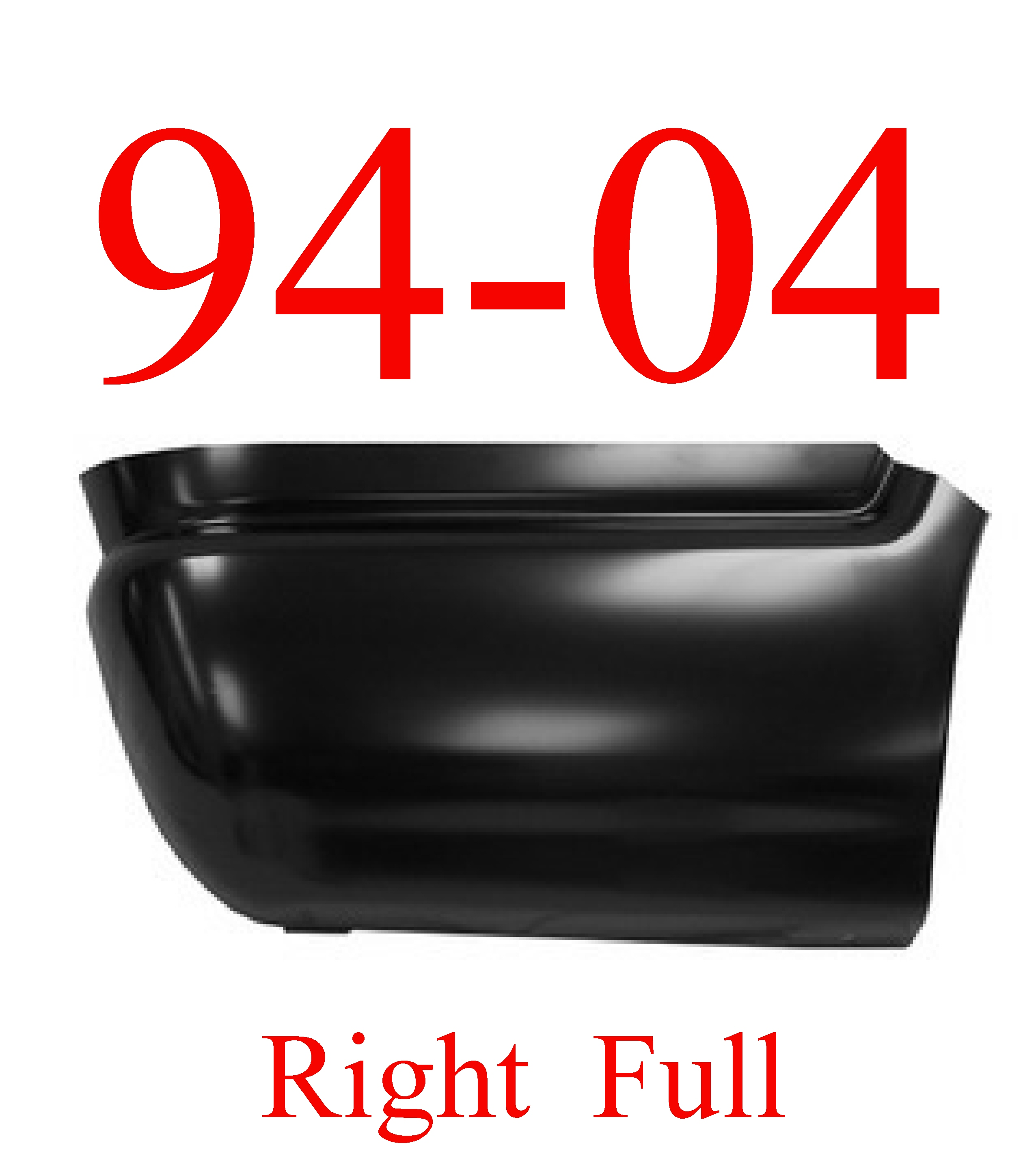 94 04 S10 RIGHT Lower Rear Bed Patch