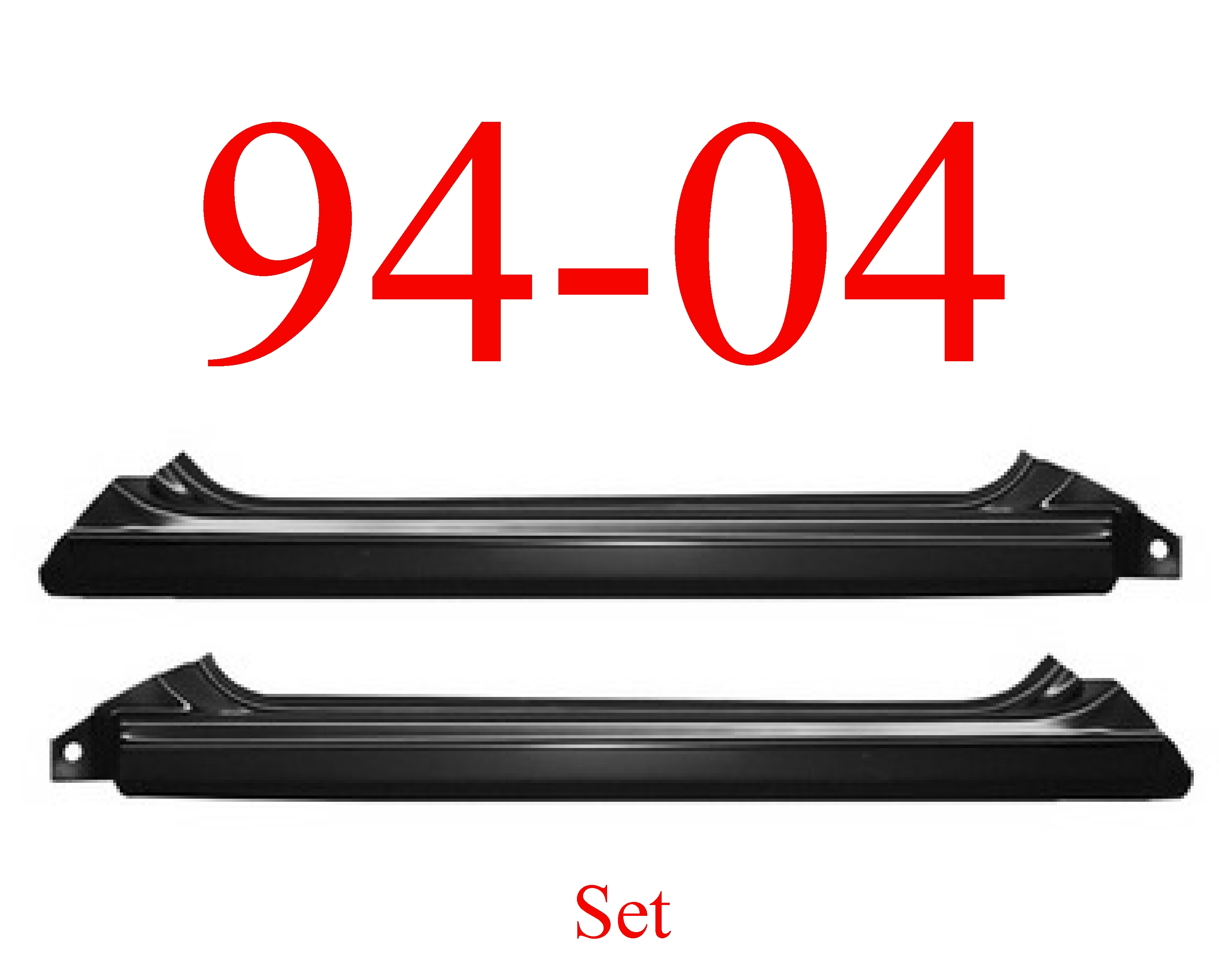 94-04 Chevy S10 Slip-On Rocker Panel Set