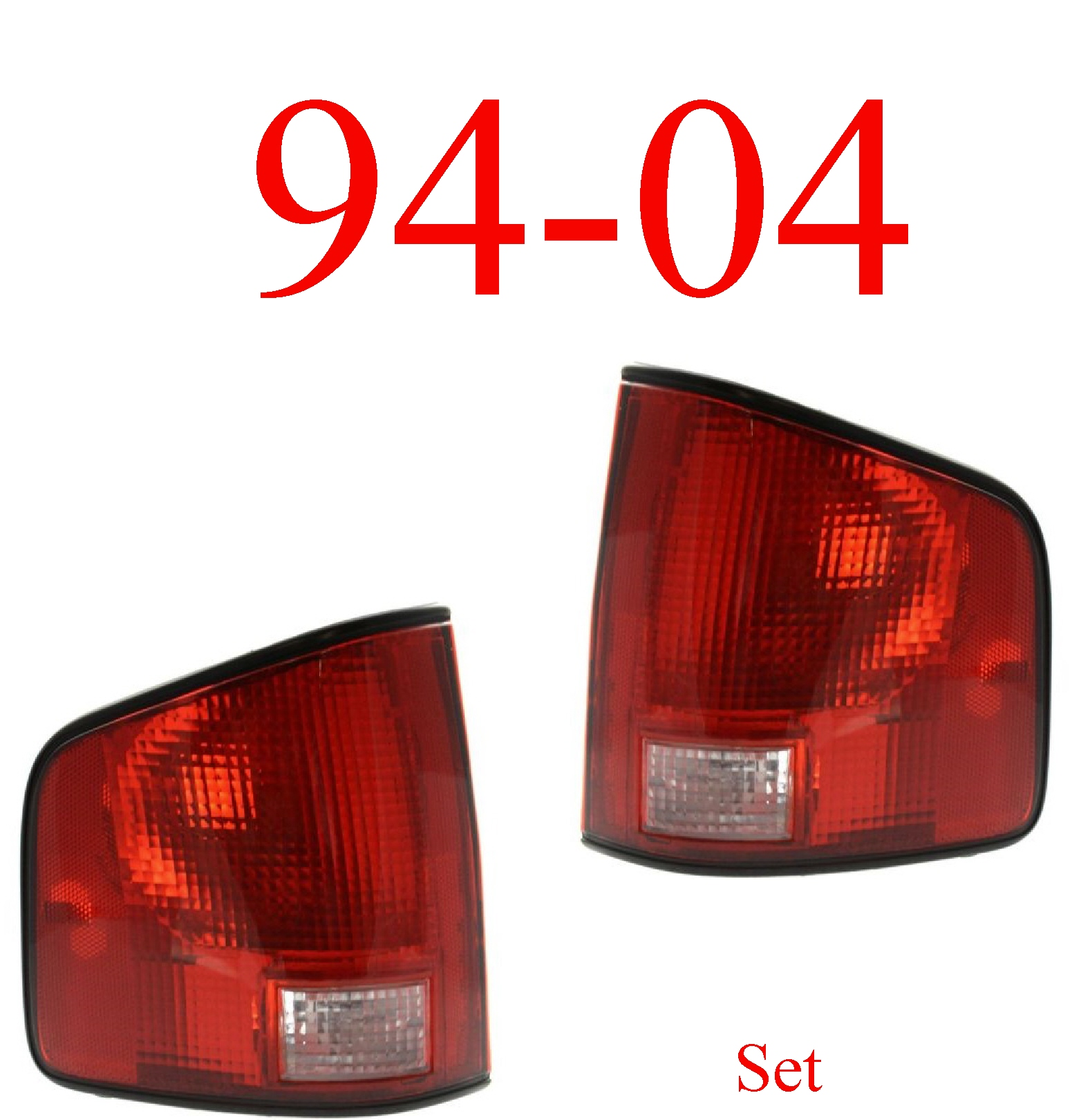 94-04 S10 Tail Light Set Assembly