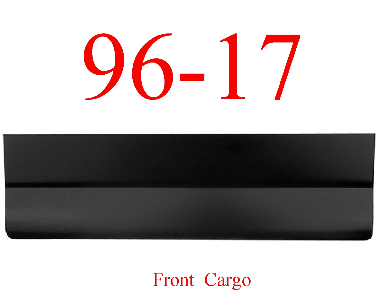 96-17 Chevy Express Right Cargo Door Front Outer Skin Bottom