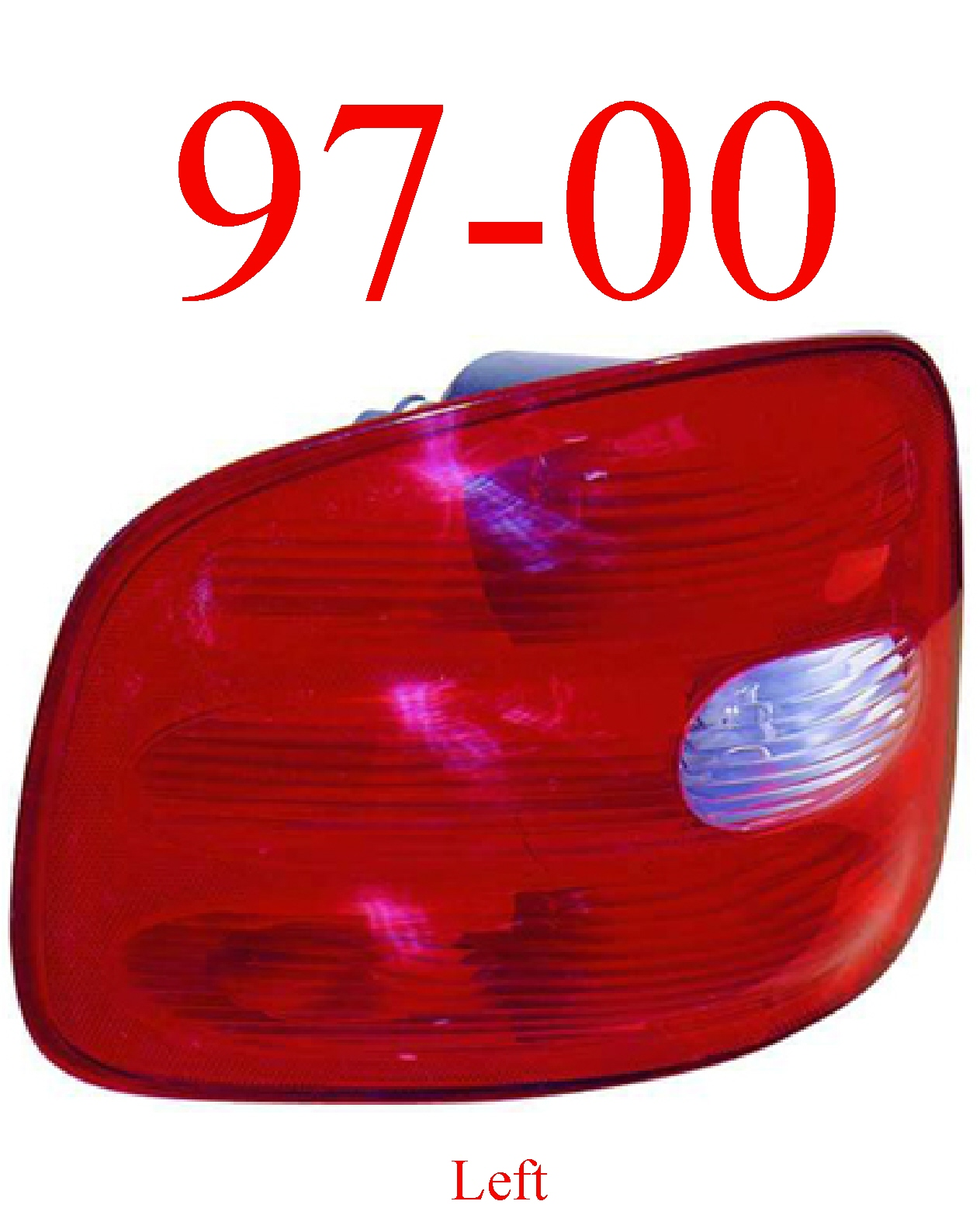97-00 Ford F150 Flareside Left Tail Light Assembly