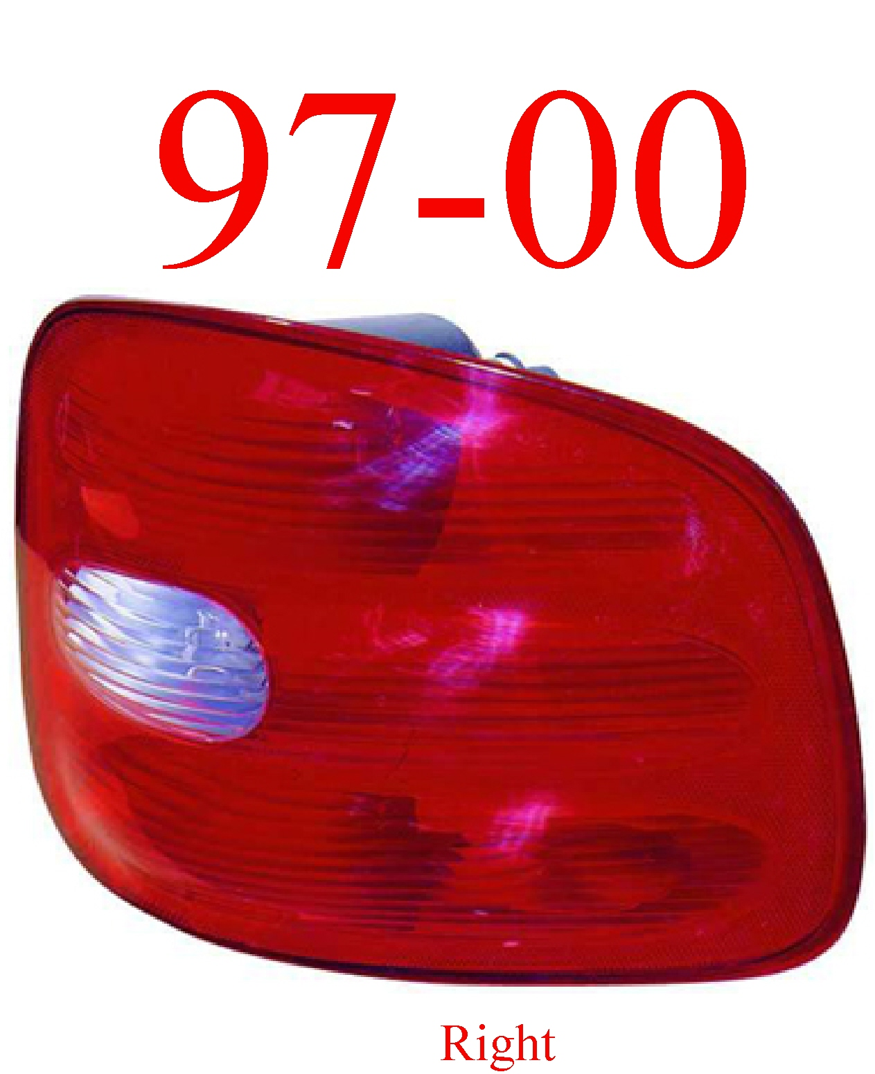 97-00 Ford F150 Flareside Right Tail Light Assembly