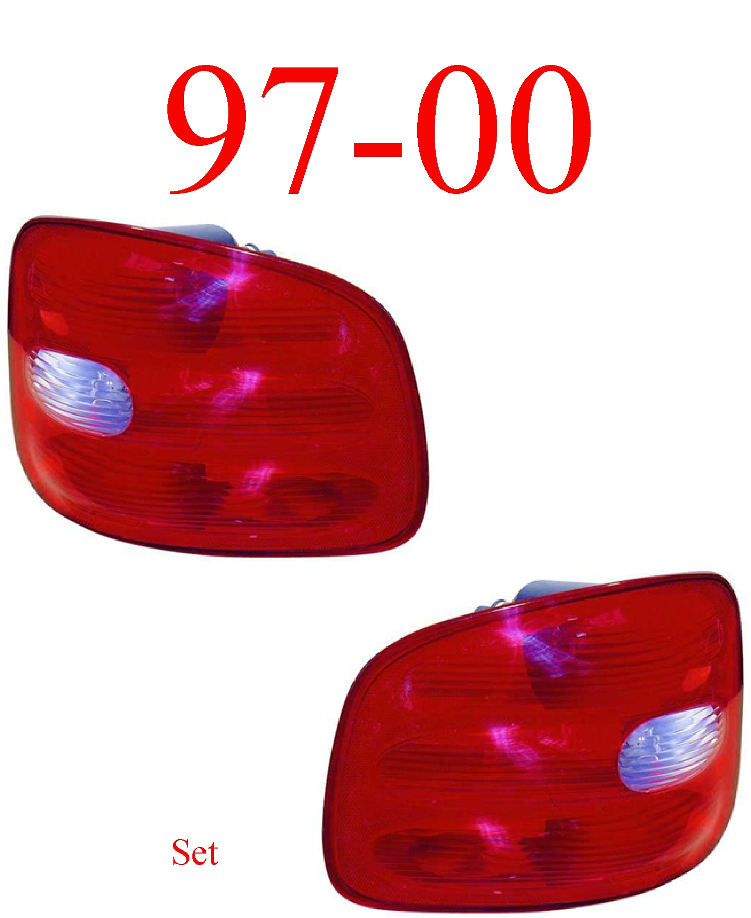 97-00 Ford F150 Flareside Tail Light Set
