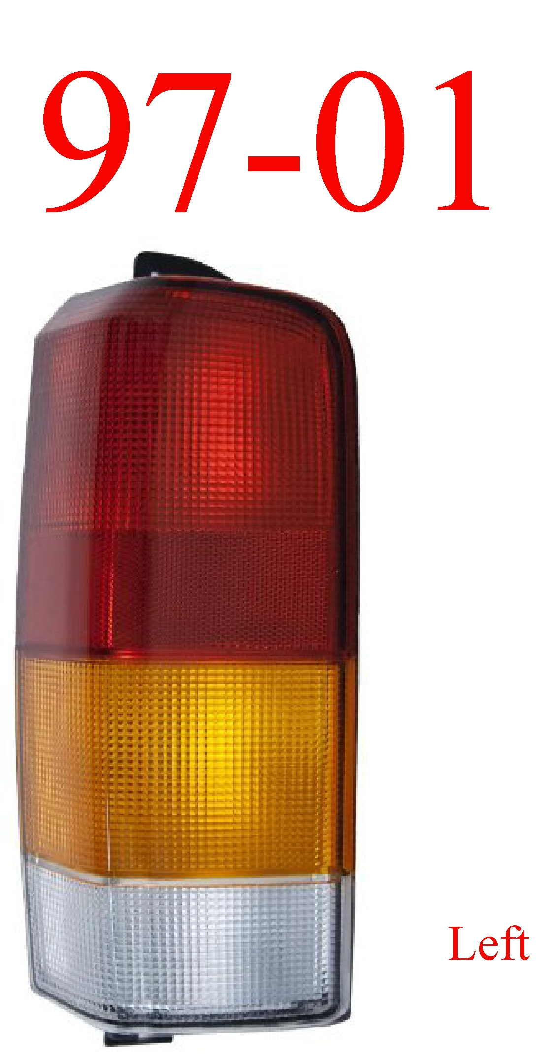 97-01 Jeep Cherokee Left Tail Light Assembly