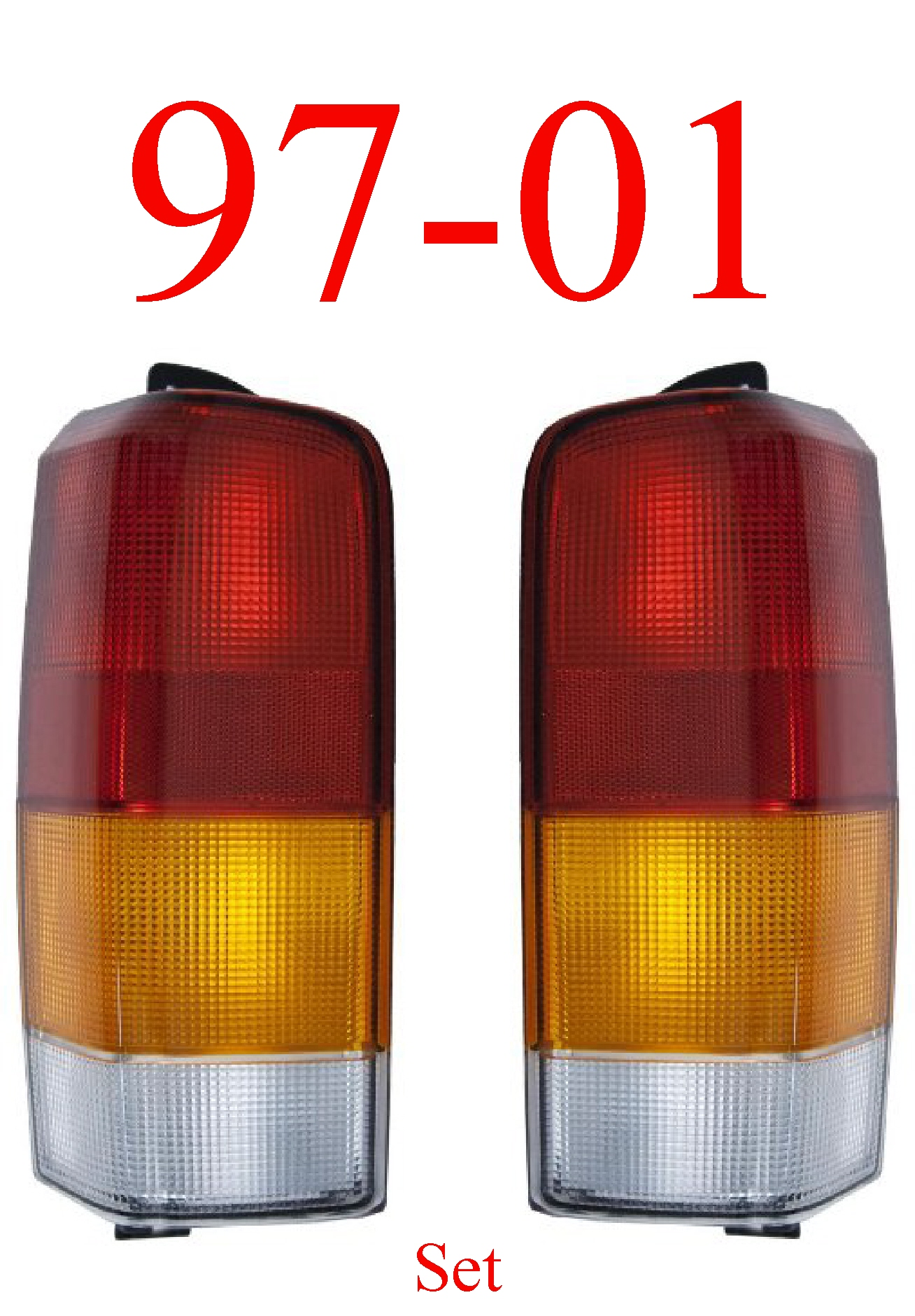 97-01 Jeep Cherokee Tail Light Set, Assembly