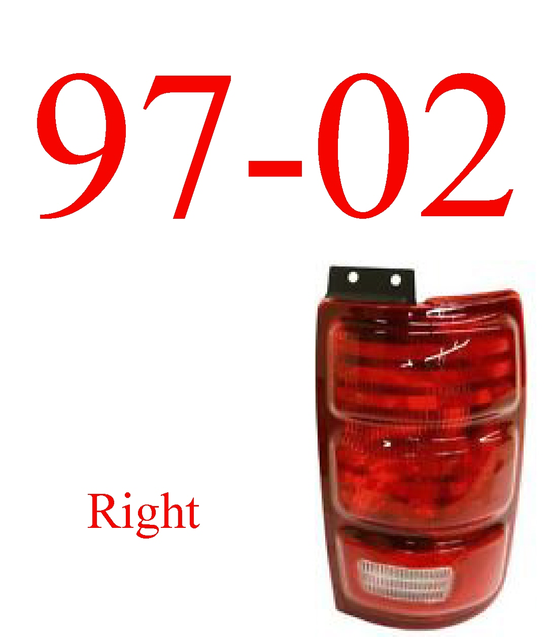 97-02 Ford Expedition Right Tail Light Assembly
