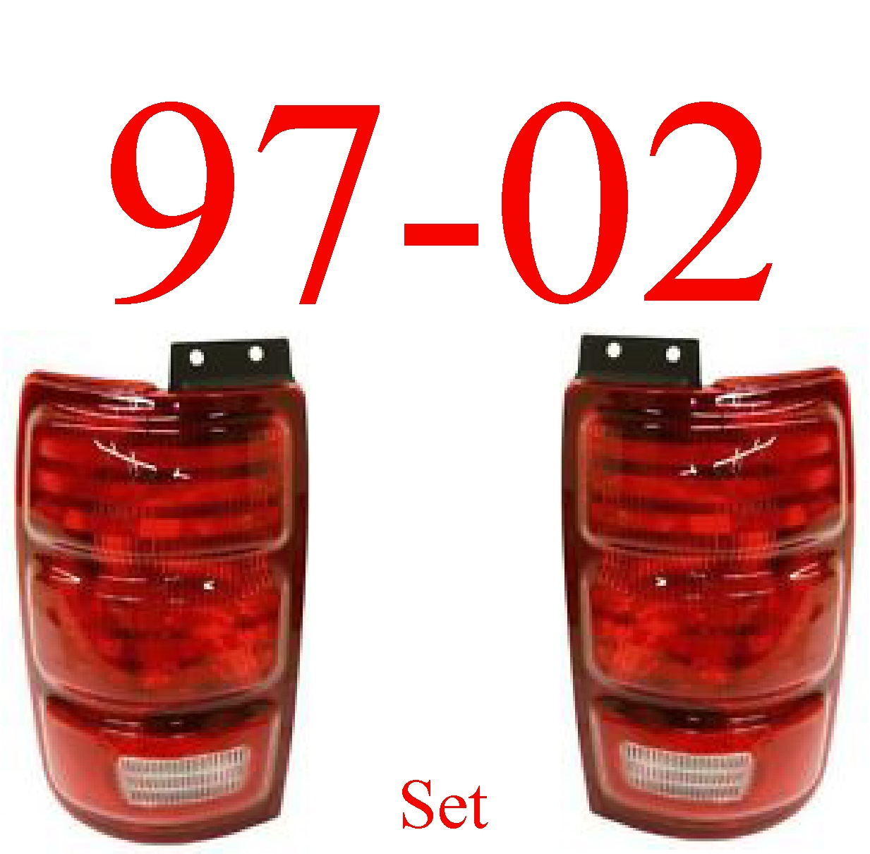 97-02 Ford Expedition Tail Light Set