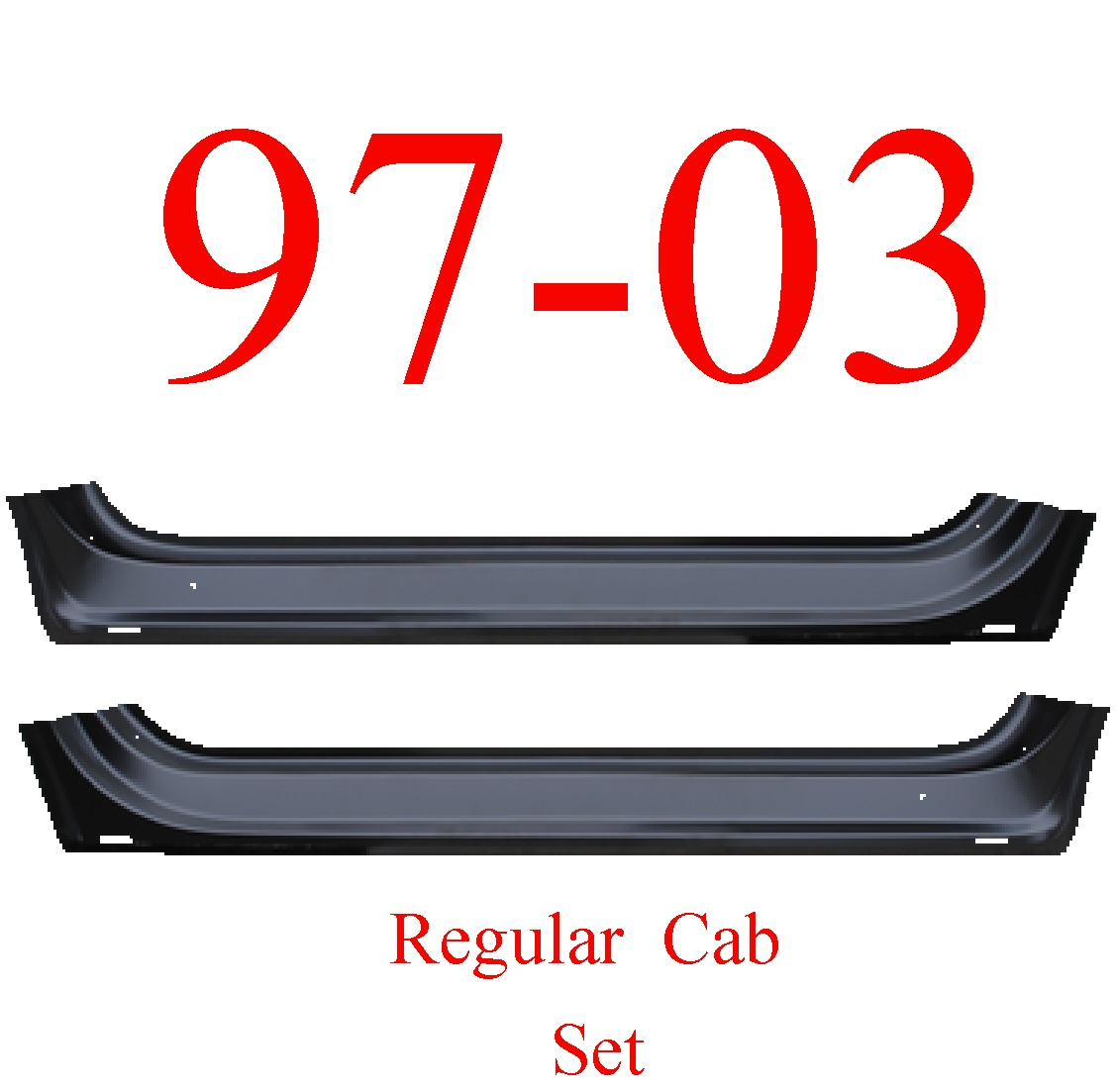 97-03 F150 Regular Cab Inner Door Bottom Set