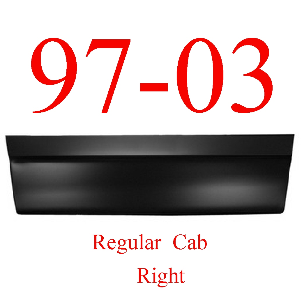 97-03 F150 Regular Cab Right Outer Door Bottom Skin