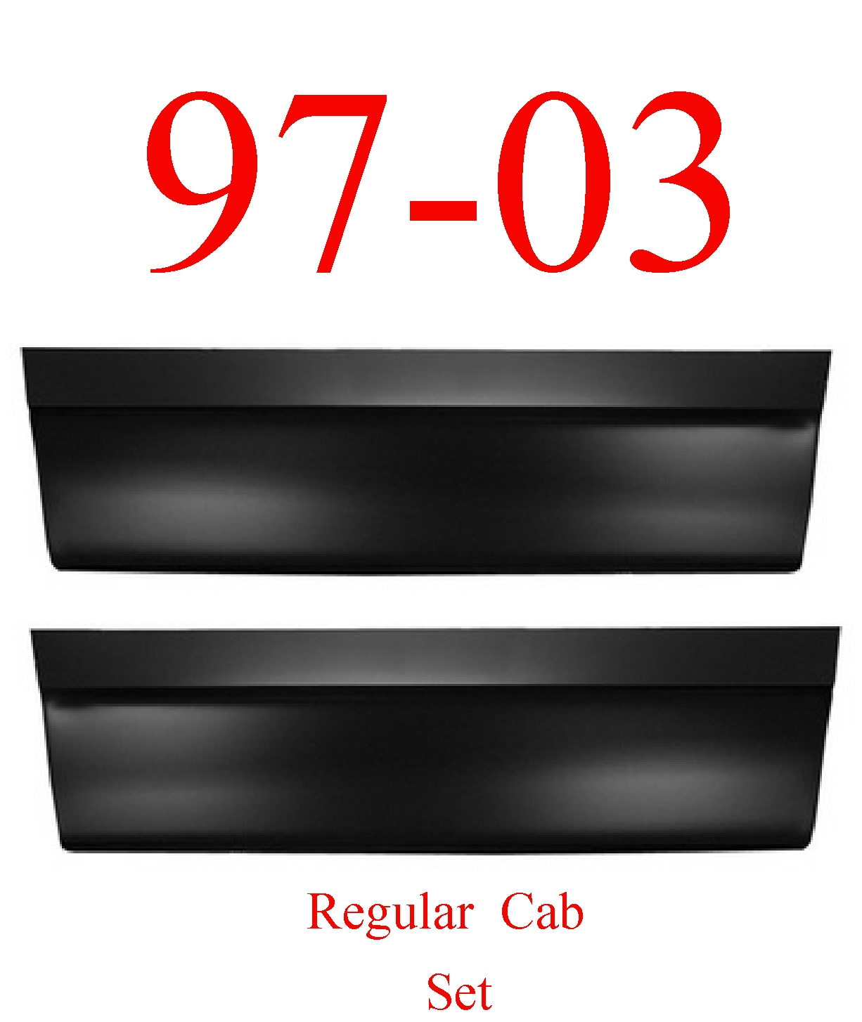 97-03 F150 Regular Cab Outer Door Bottom Skin Set