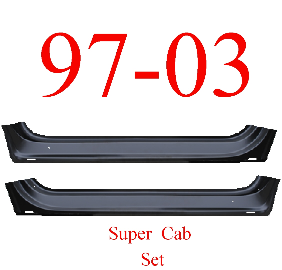 97-03 Ford Super Cab Front Inner Door Bottom Set