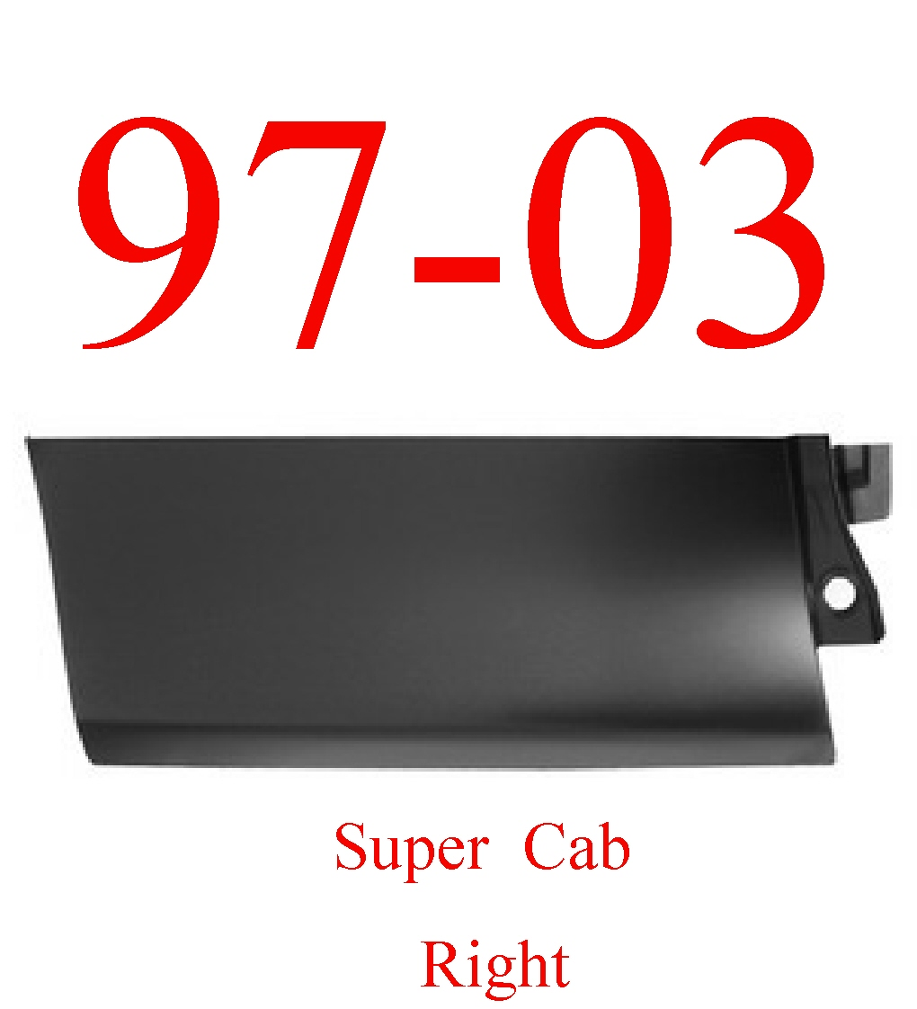 97-03 Ford Super Cab Right Rear Outer Door Bottom Skin