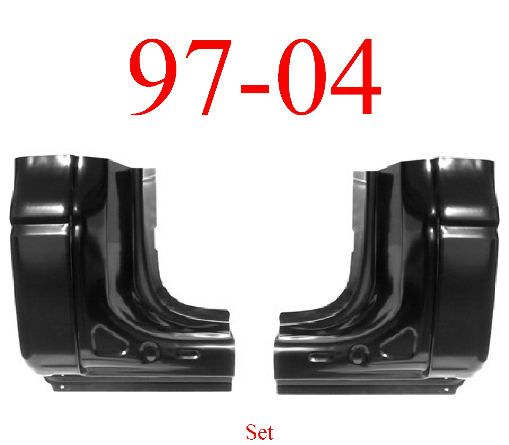 97-04 Dodge Dakota Regular Cab Corner Set