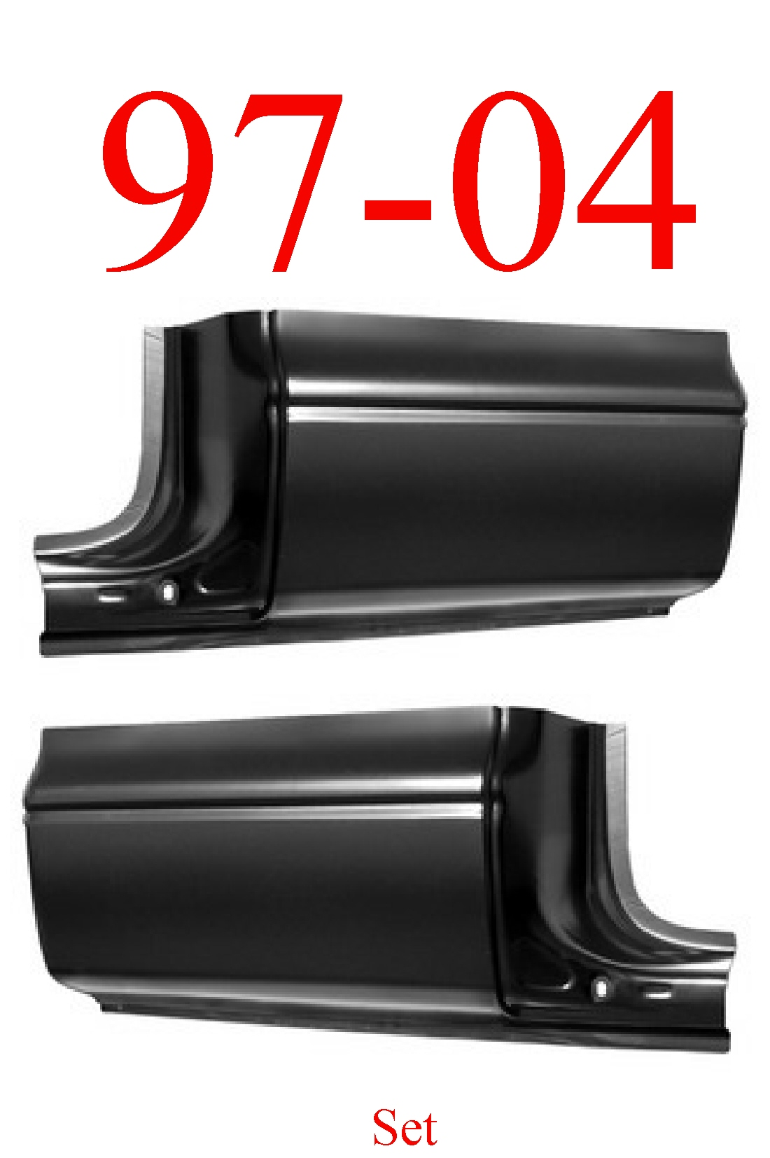 97-04 Dodge Dakota Extended Cab Corner Set