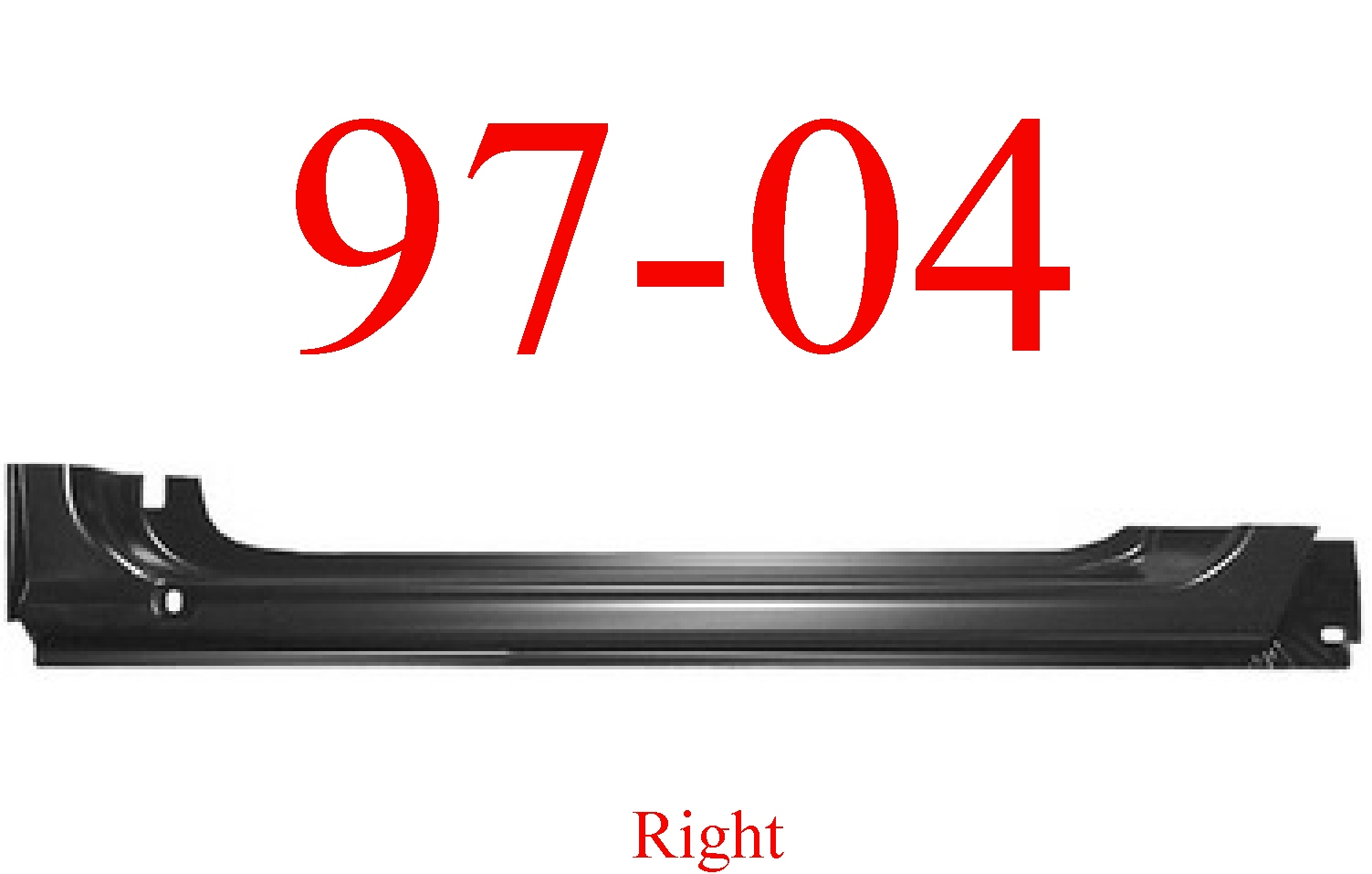 97-04 Dodge Dakota Right Extended Rocker Panel
