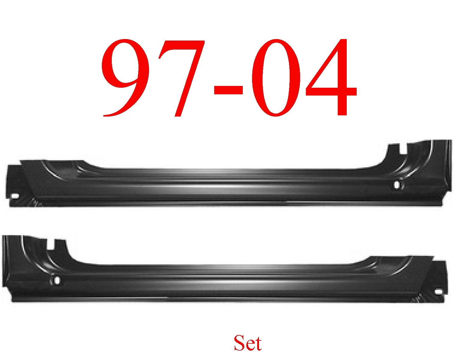 97-04 Dodge Dakota Extended Rocker Panel Set
