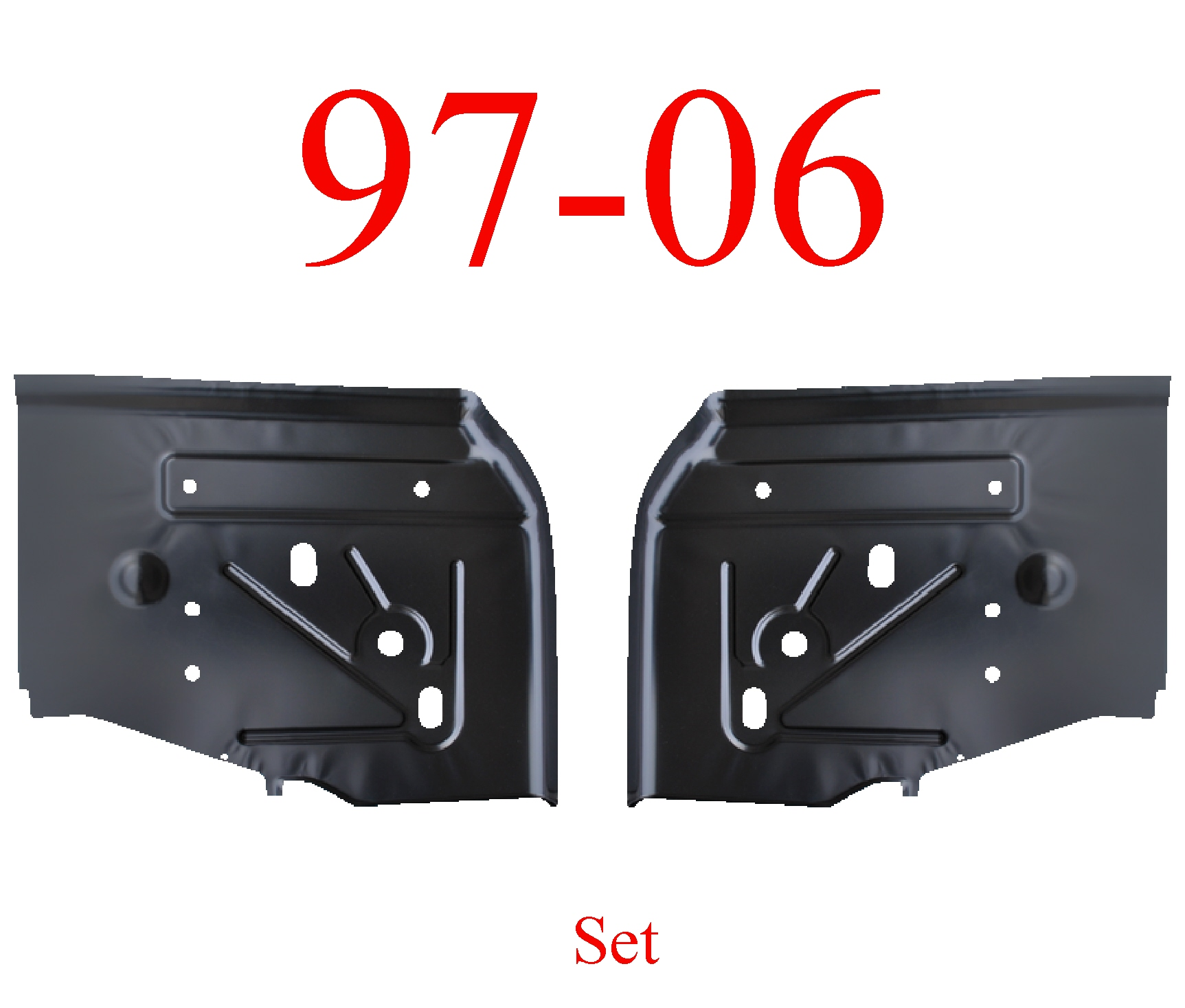 97-06 Jeep Wrangler TJ Rear Floor Pan Set
