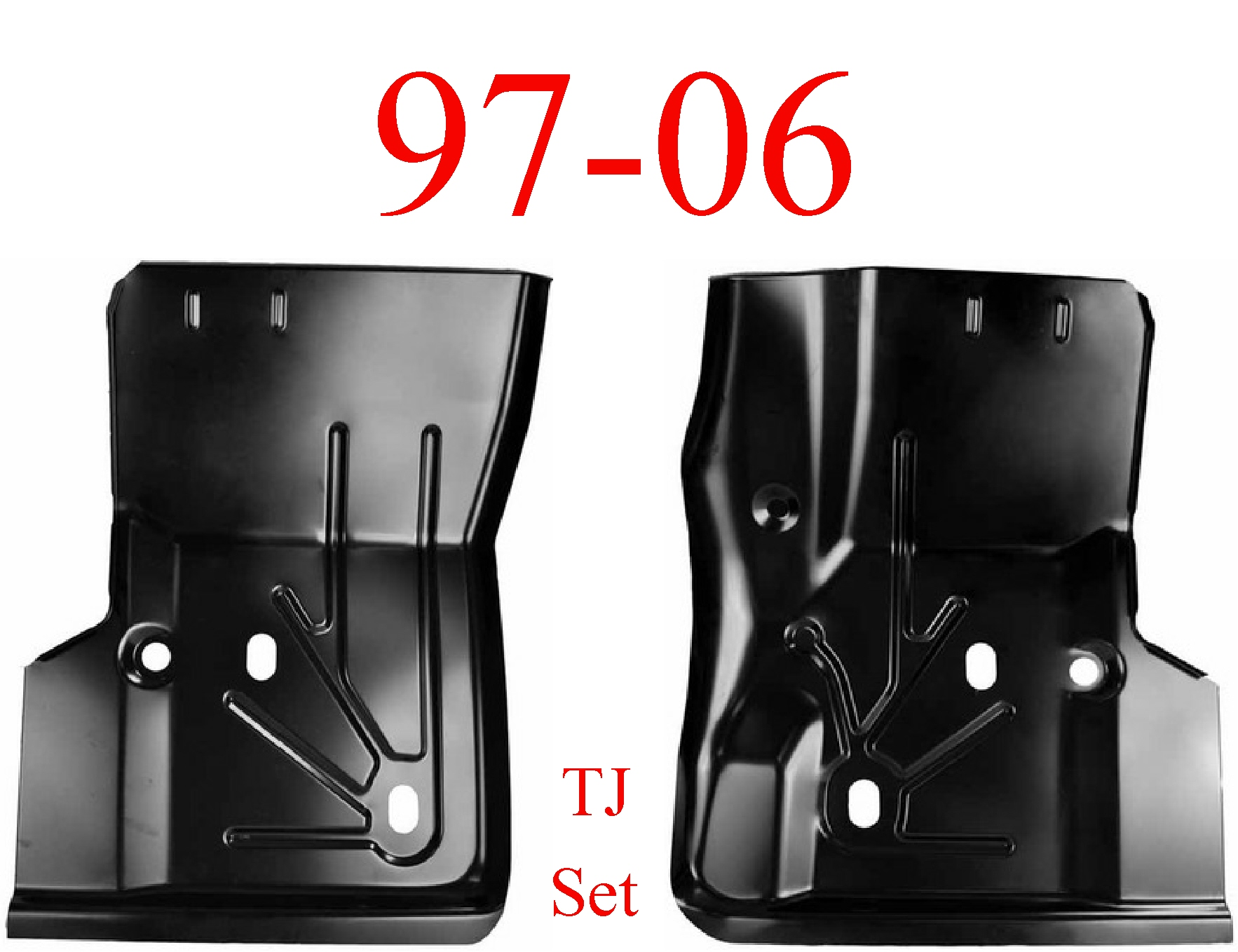 97-06 Jeep Wrangler TJ Front Floor Pan Set