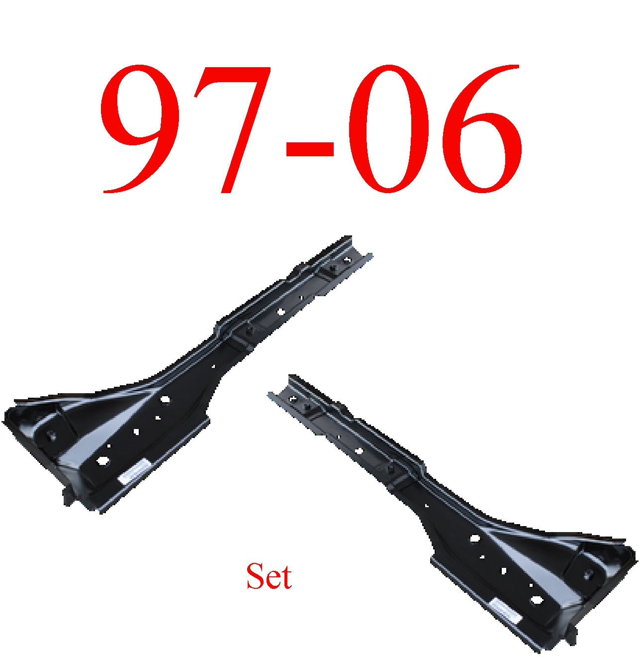 97-06 Jeep Wrangler TJ Torque Box Floor Support Set