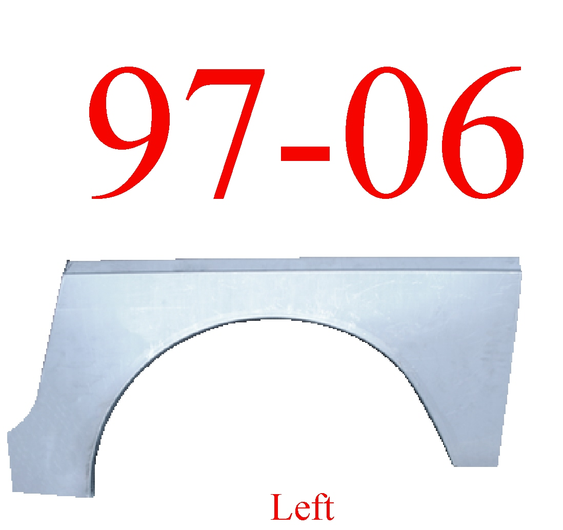 97-06 Jeep Wrangler TJ Left Rear Upper Wheel Arch