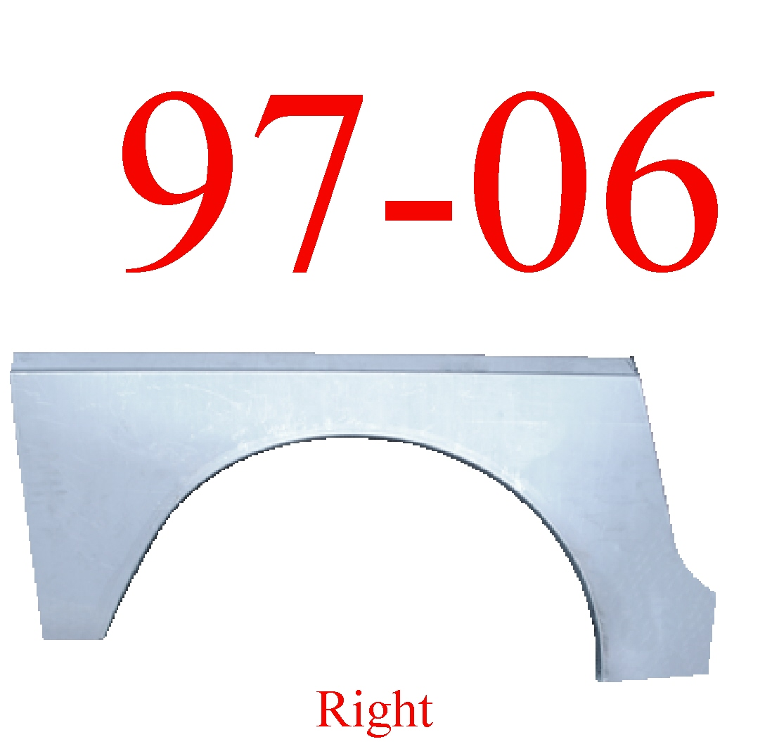 97-06 Jeep Wrangler TJ Right Rear Upper Wheel Arch