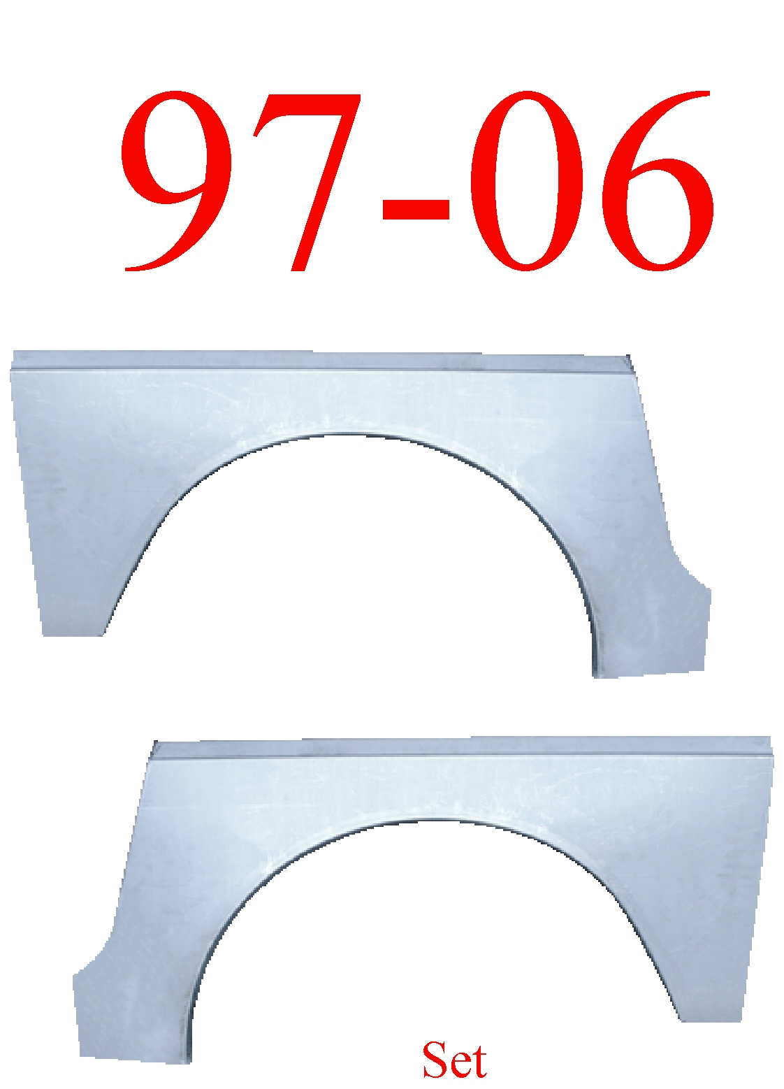 97-06 Jeep Wrangler TJ Rear Upper Wheel Arch Set