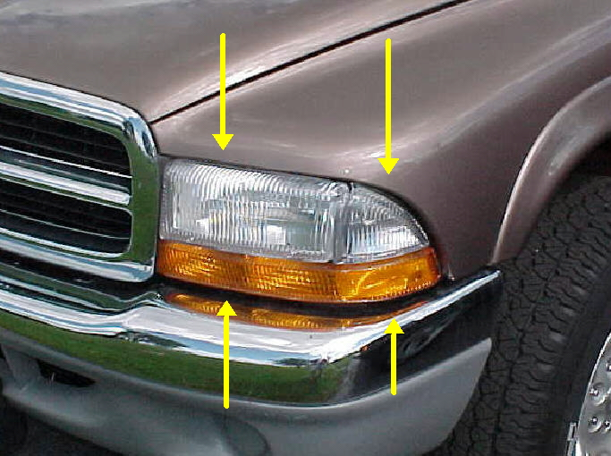 97-04 Dakota 98-03 Durango Left Head Light Combo 2Pc Kit