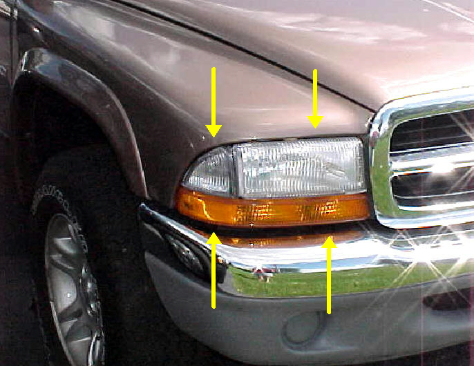 97-04 Dakota 98-03 Durango Right Head Light Combo 2Pc Kit