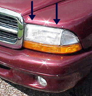 97-04 Dakota 98-03 Durango Left Head Light Assembly