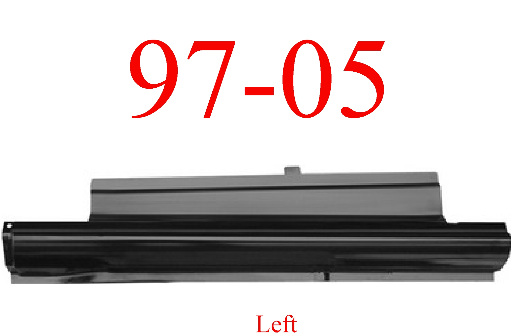 97-05 Chevy Venture Left Slip-On Rocker Panel