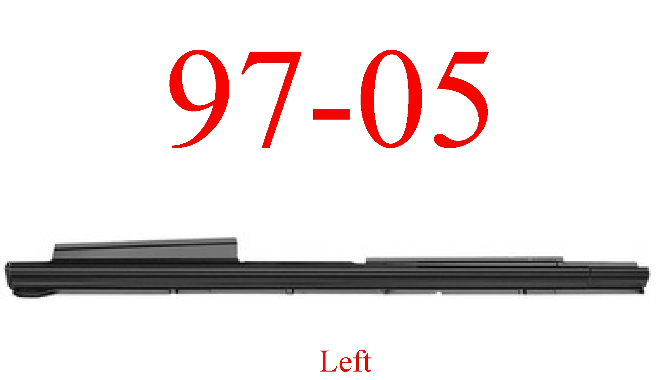 97 05 Chevy Venture Left Extended Rocker Panel