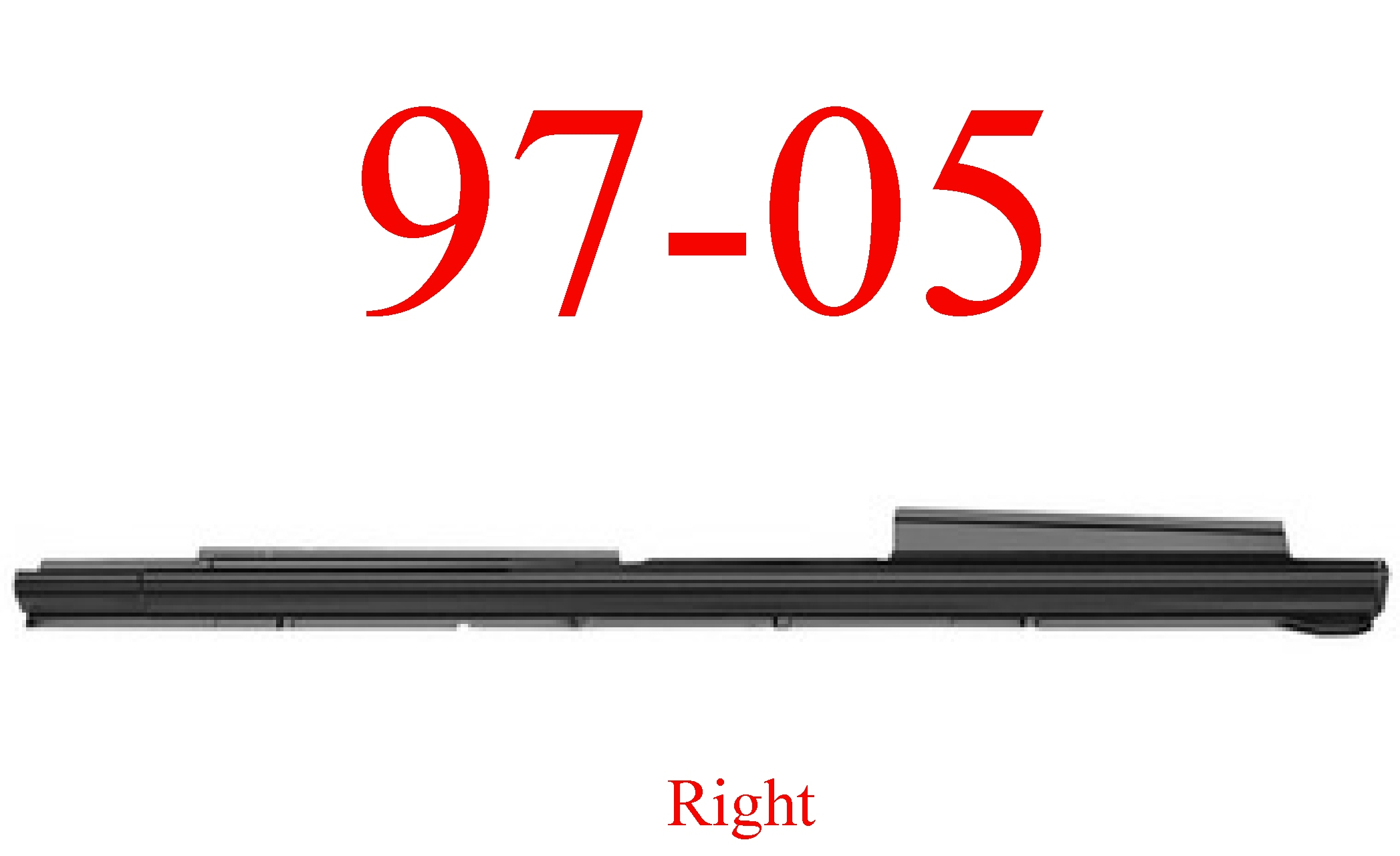 97-05 Chevy Venture Right Extended Rocker Panel