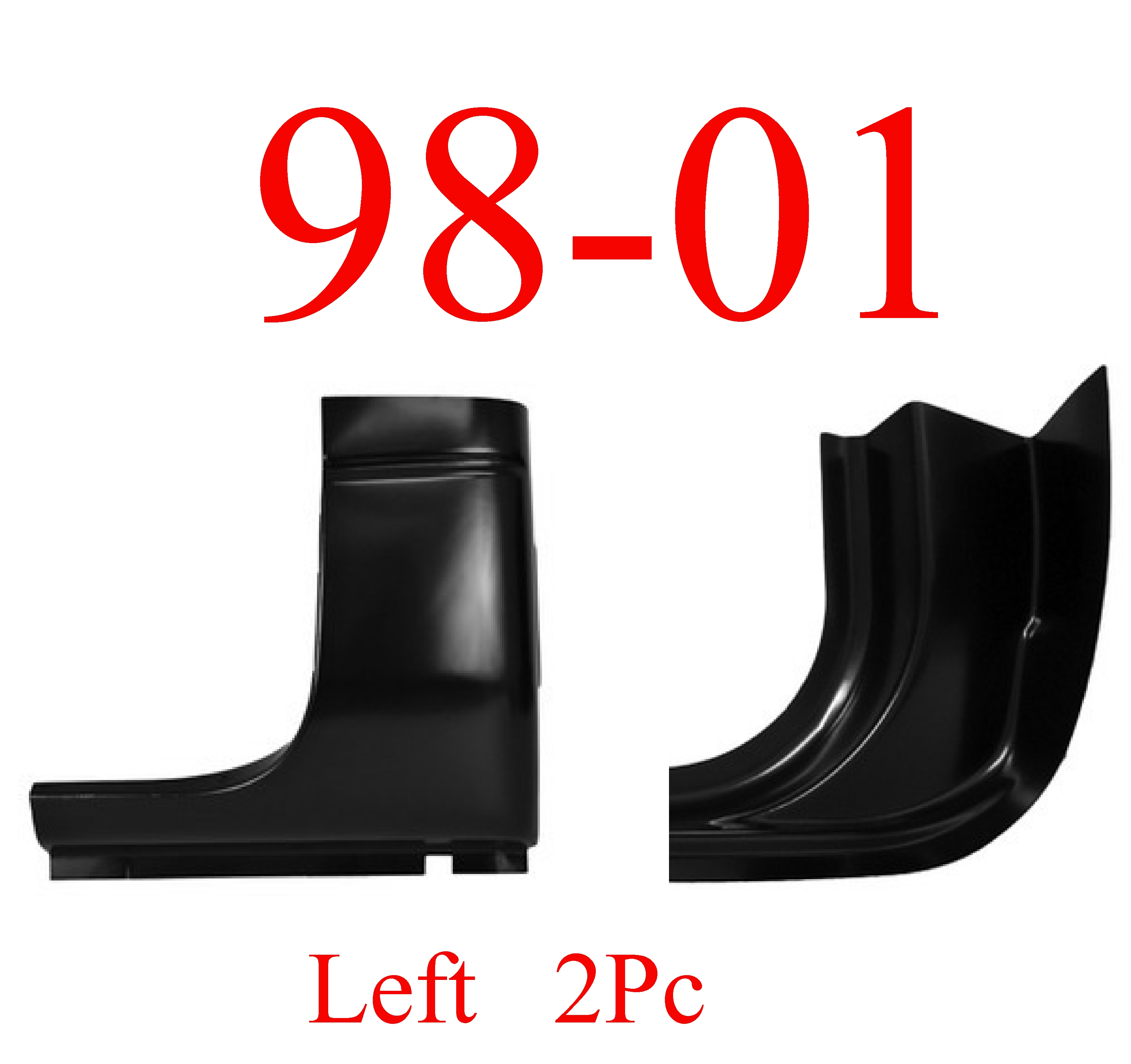 98-01 Dodge Left 2Pc Quad Cab Corner & Inner