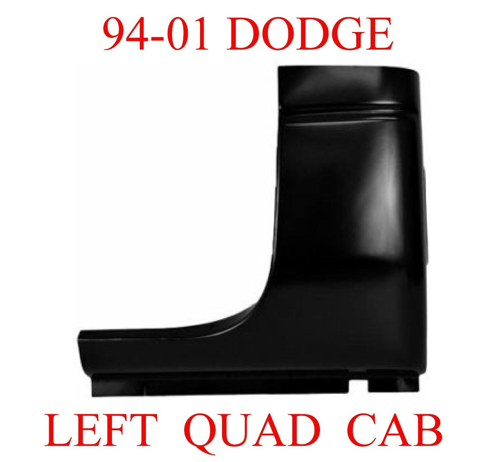 98-01 Dodge Ram Left Quad Cab Corner
