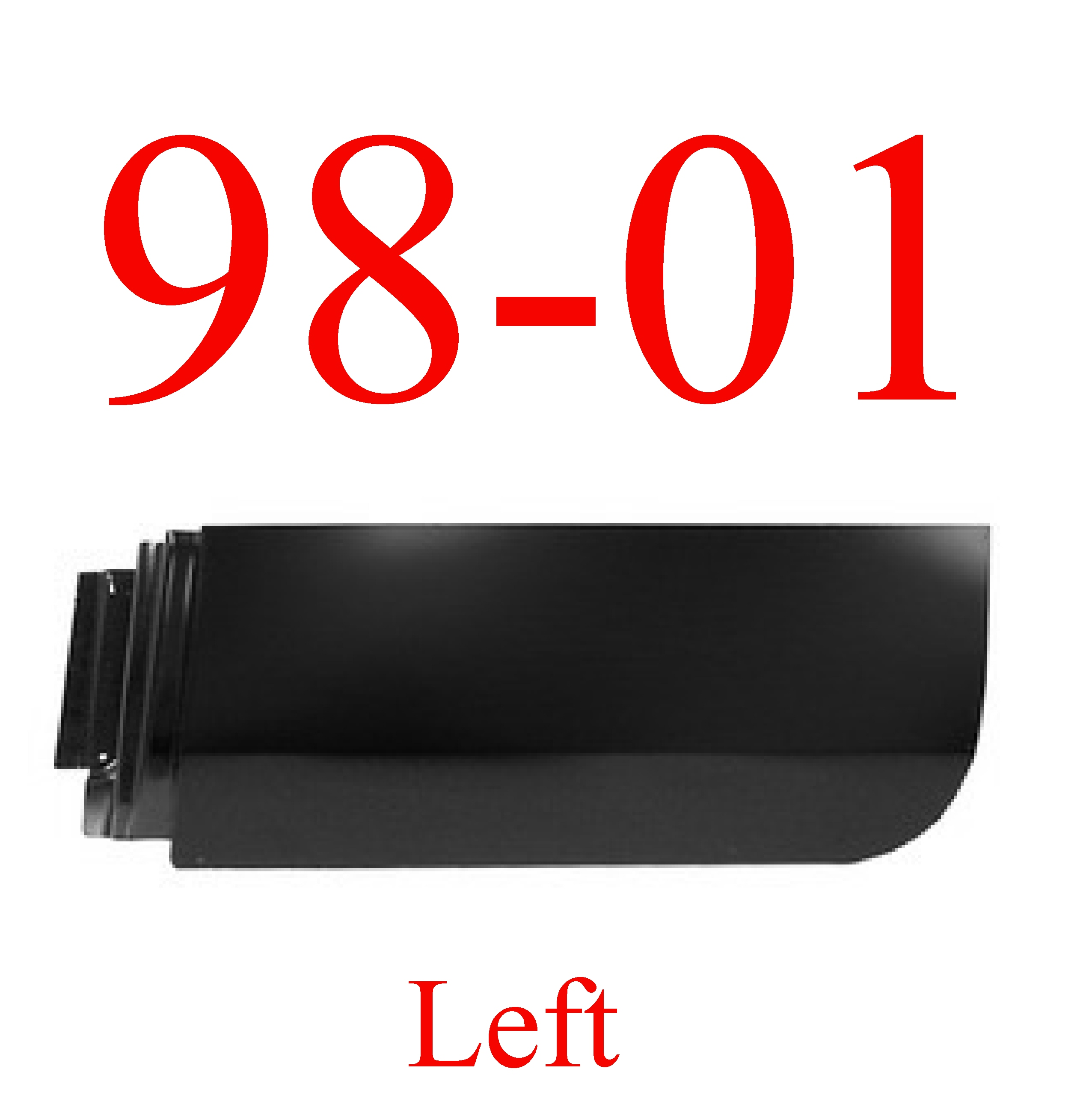 98-01 Dodge Left Rear Quad Cab Door Skin
