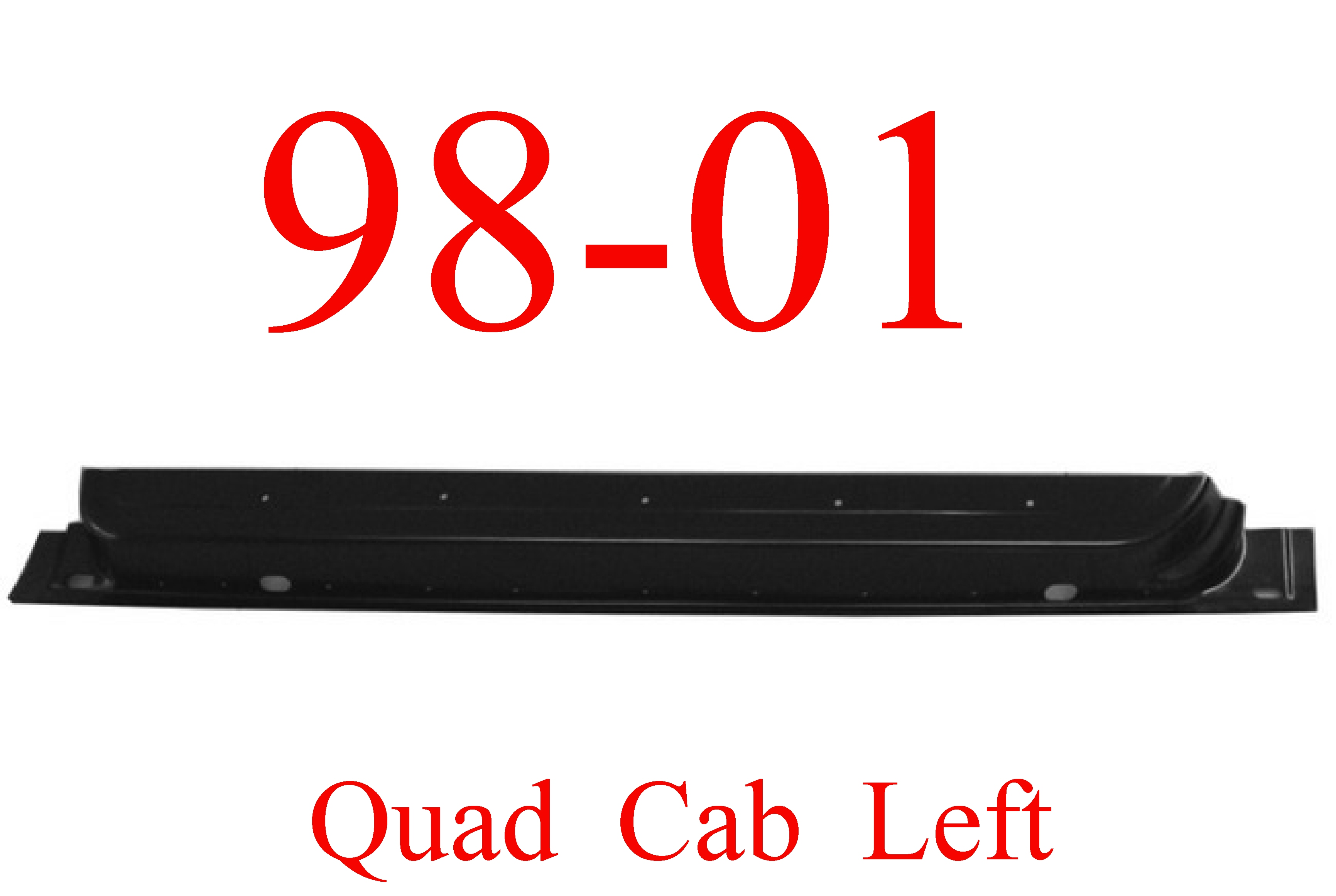 98-01 Dodge Left Front Quad Cab Inner Door Bottom