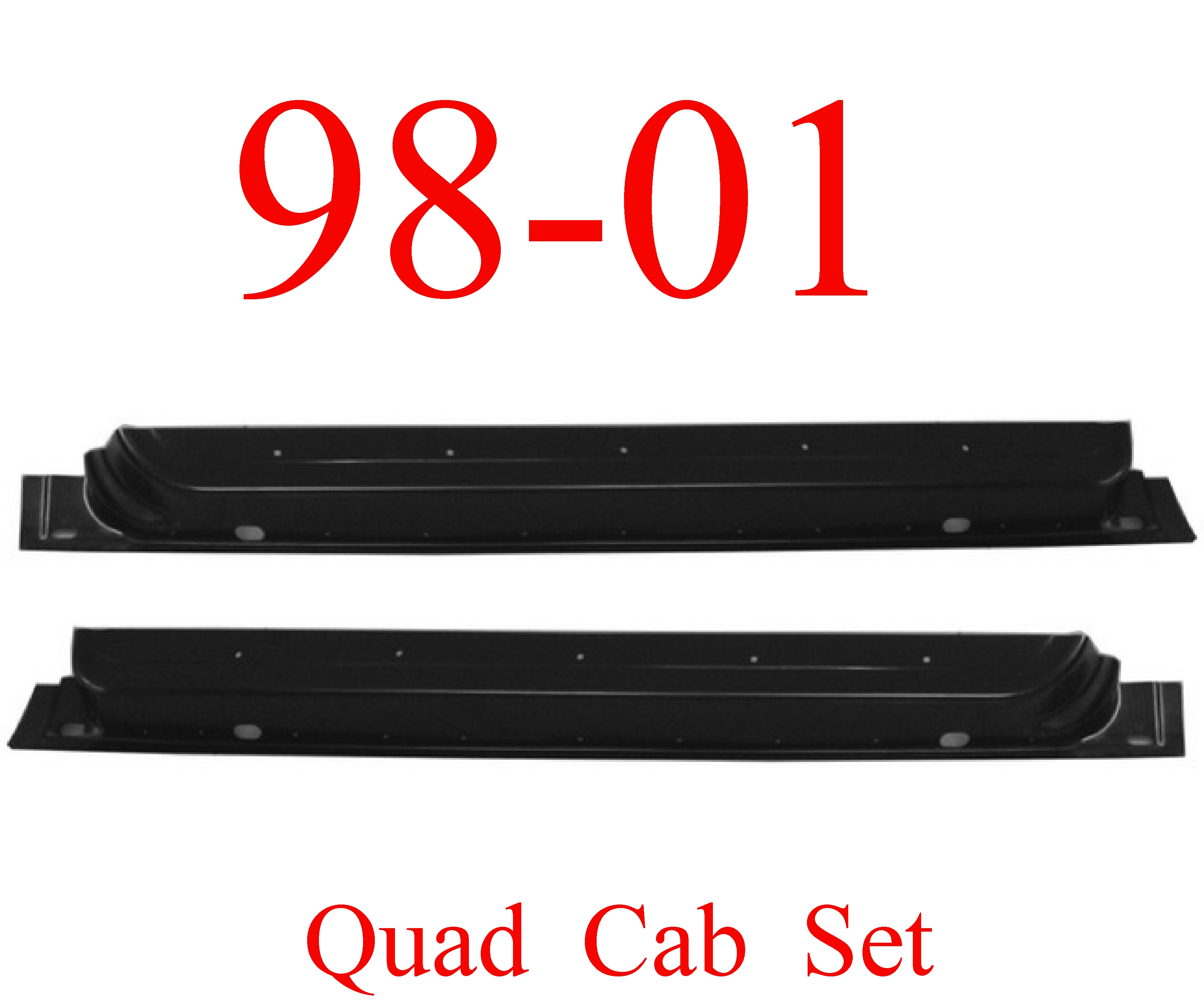 98-01 Dodge Front Quad Cab Inner Door Bottom SET