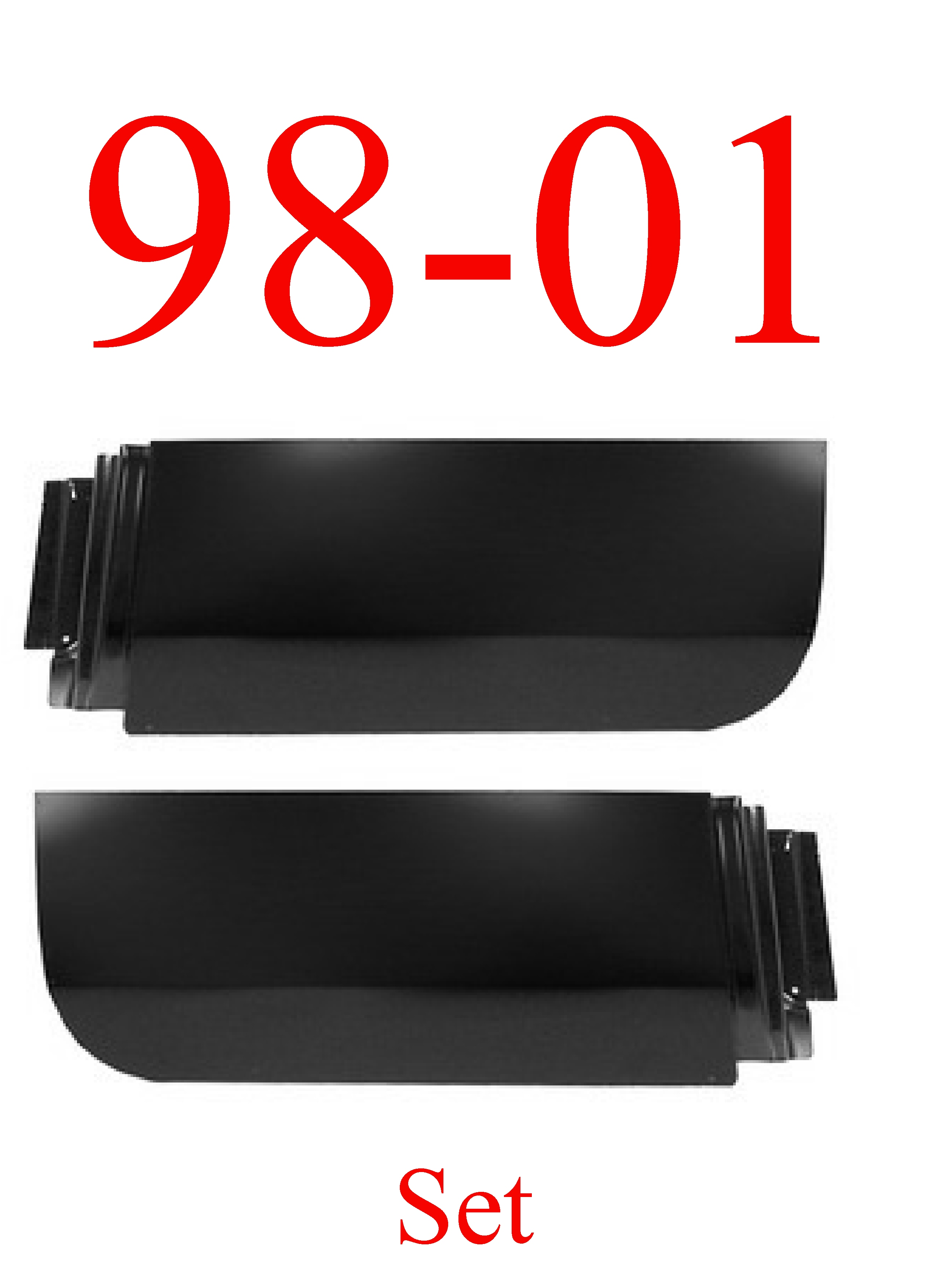 98-01 Dodge Rear Quad Cab Door Skin Set