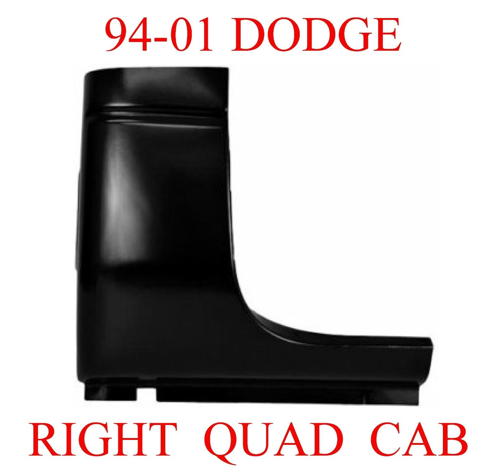 98-01 Dodge Ram Right Quad Cab Corner