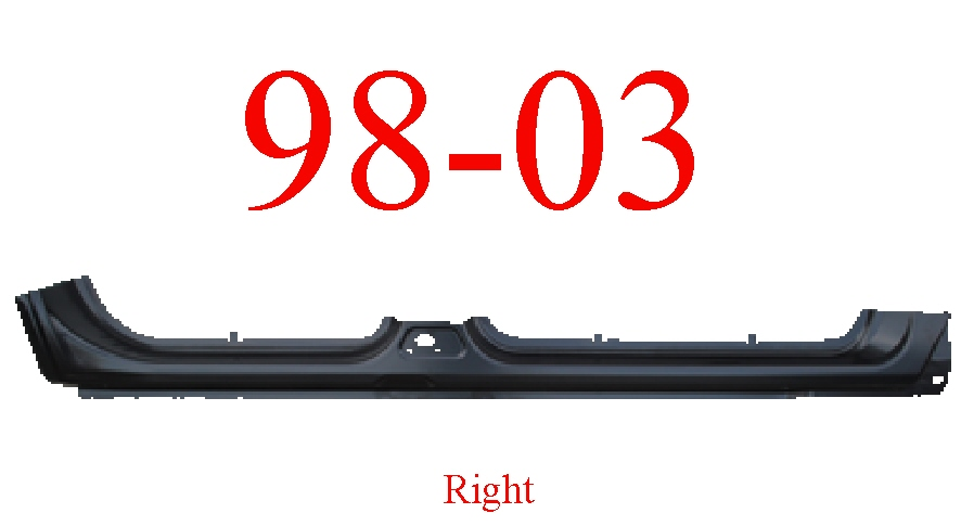 98-03 Dodge Durango Right Extended Rocker Panel
