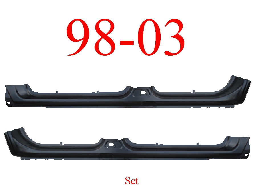 98-03 Dodge Durango Extended Rocker Panel Set
