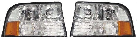 98-04 GMC S15 Head Light Set W-O Fog L&R