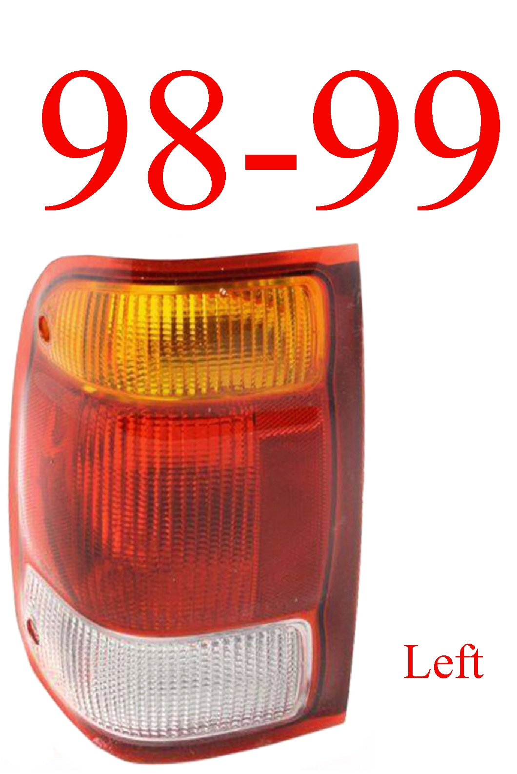 98-99 Ford Ranger Left Tail Light Assembly