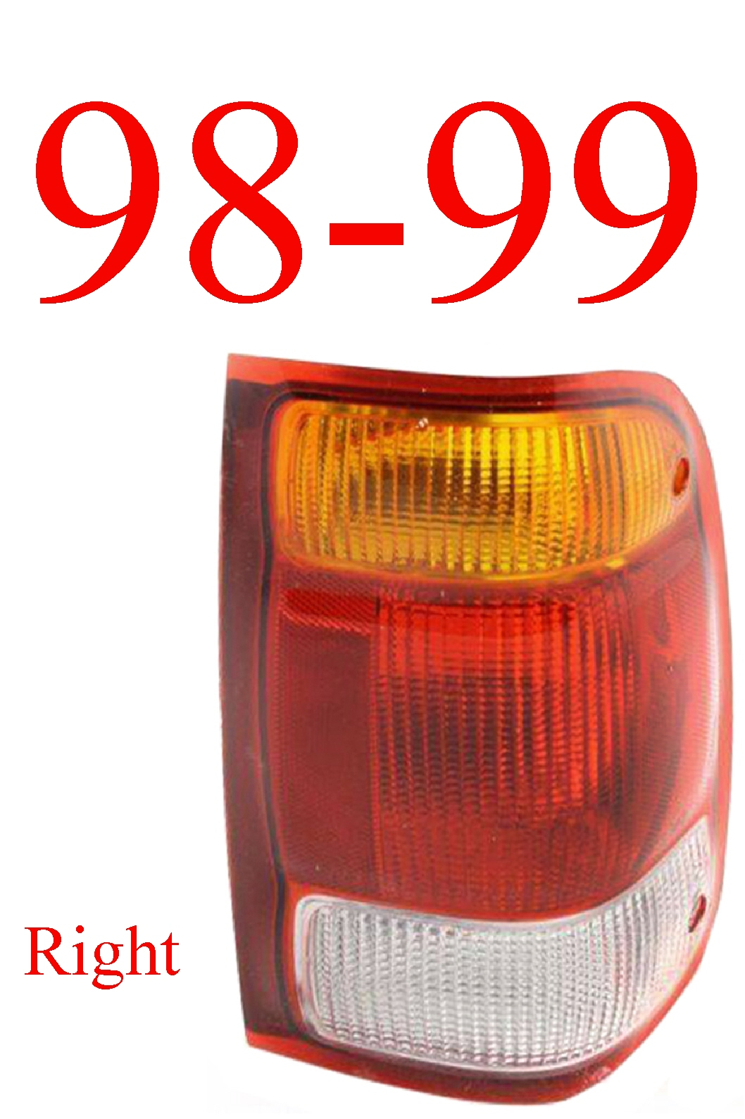 98-99 Ford Ranger Right Tail Light Assembly