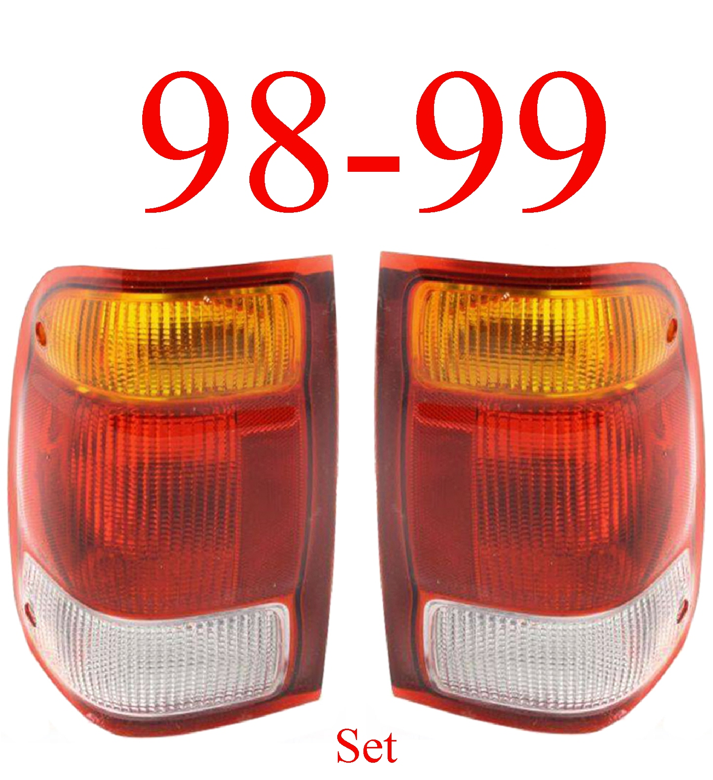 98-99 Ford Ranger 2Pc Tail Light Set