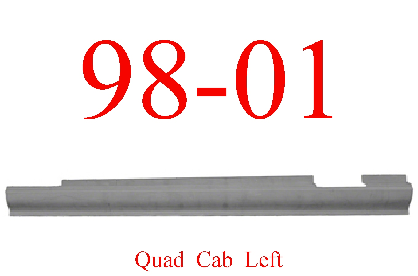 98-01 Dodge Left Quad Cab Slip-On Rocker